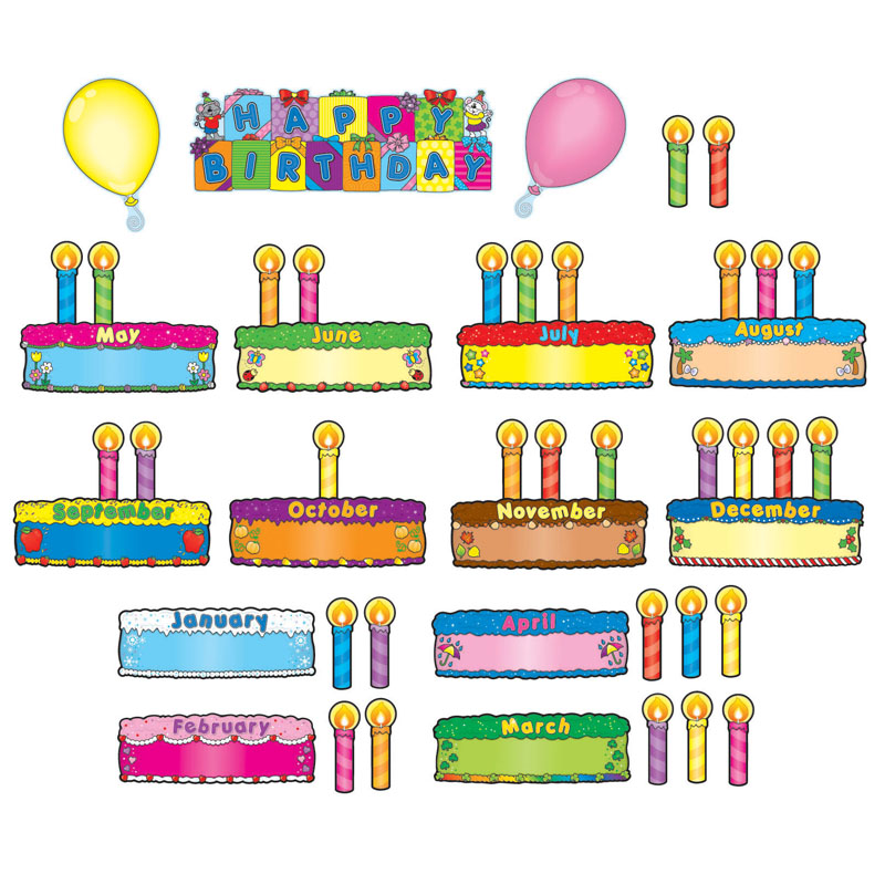 Classroom Decorations Bulletin Board Set ~ Birthday bulletin board sets teacher classroom
