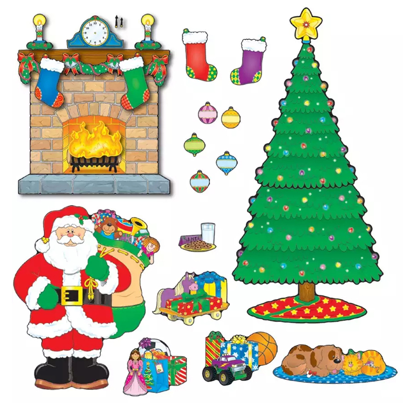 Winter Bulletin Board Sets Part - 20: Christmas Classroom Decorations | Winter Bulletin Board Sets | Christmas  Scene Bulletin Board Set | Schoodoodle School Supplies - CD-110062