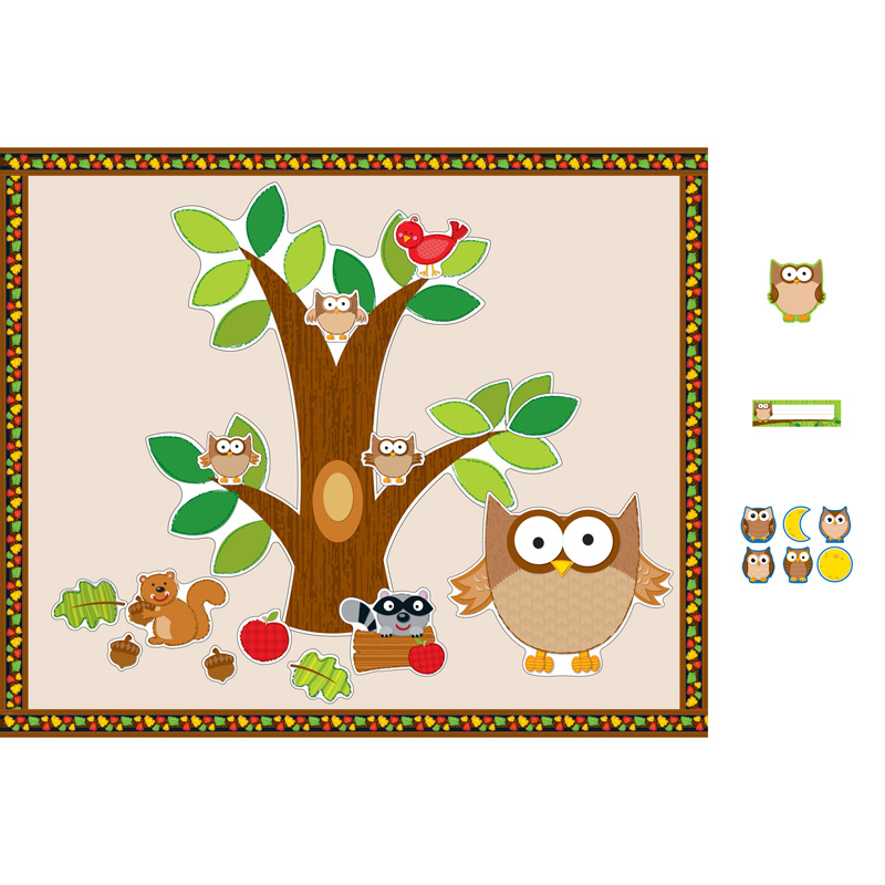Classroom Decorations Bulletin Board Set ~ Fall classroom decorations owl bulletin board essentials
