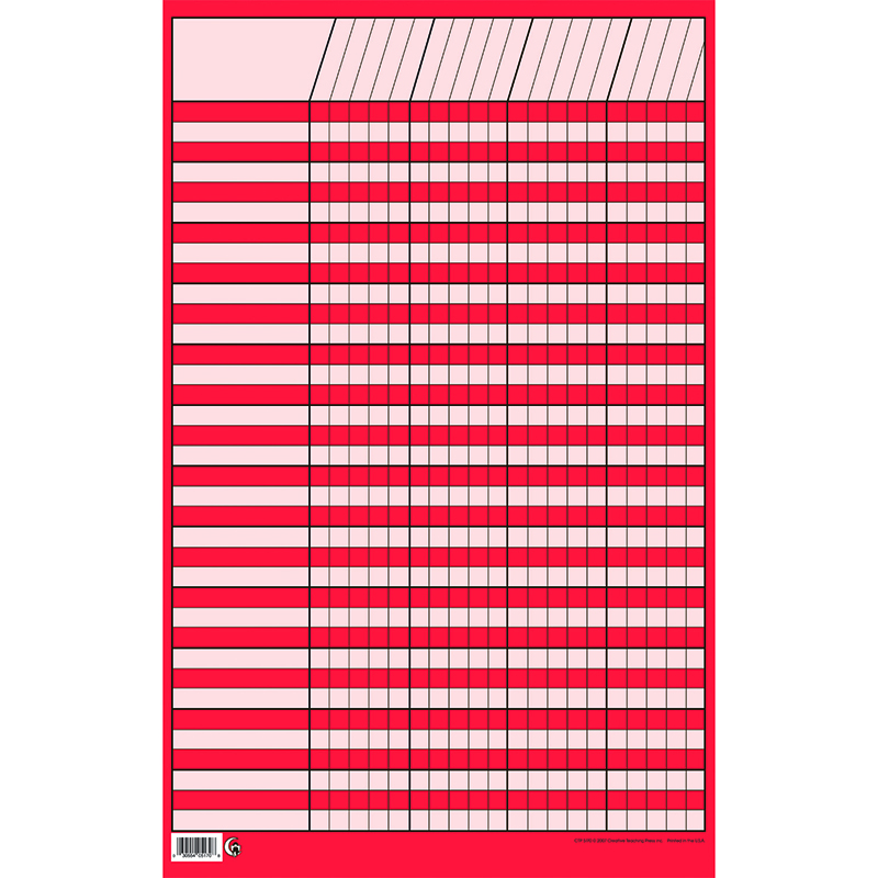 Sm Red Vertical Incentive Chart Zerbee