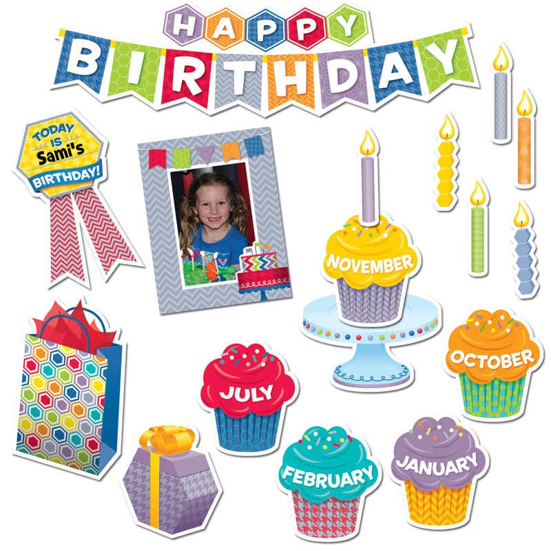 Classroom Decoration Happy Birthday ~ Happy birthday mini bulletin board classroom theme ctp