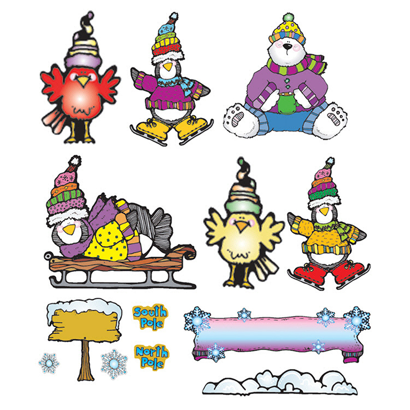 fascinating Winter Bulletin Board Sets Part - 17: Winter Bulletin Board Sets, Polar Pals : Scoodoodle School Supplies -  DJ-610007