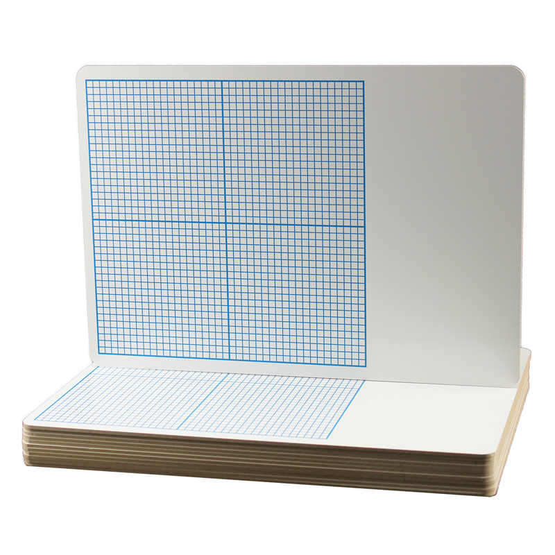 Flipside 12pk 1 4in Graph Dry Erase Boards Class Pack 11 X
