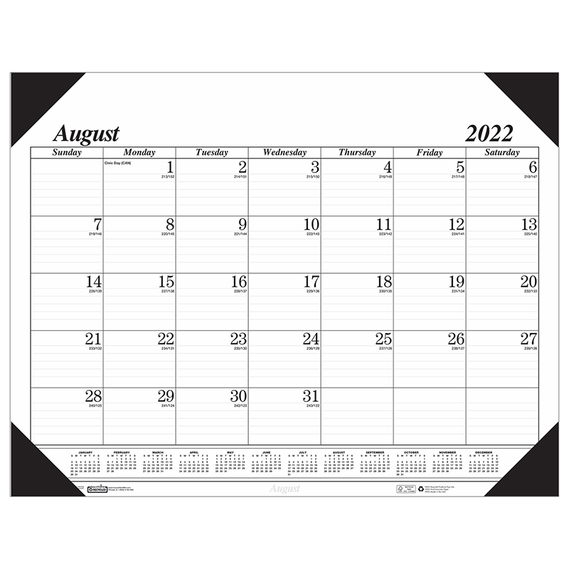 Academic Economy Desk Pad 17 Month Calendars Hod12802