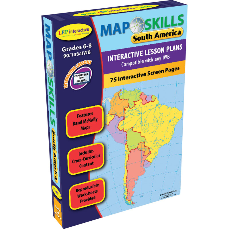 Map skills south america interactive whiteboard software lep901084iwb