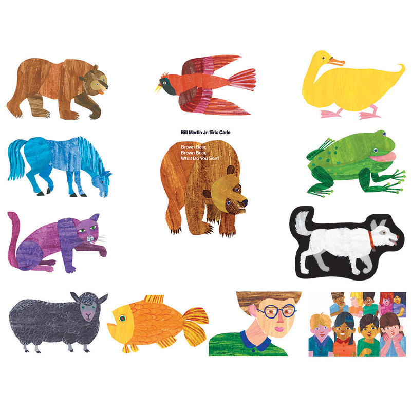 ERIC CARLE BROWN BEAR BROWN BEAR WHAT DO YOU SEE  : LFV22802L from zerbee.com size 800 x 800 jpeg 430kB