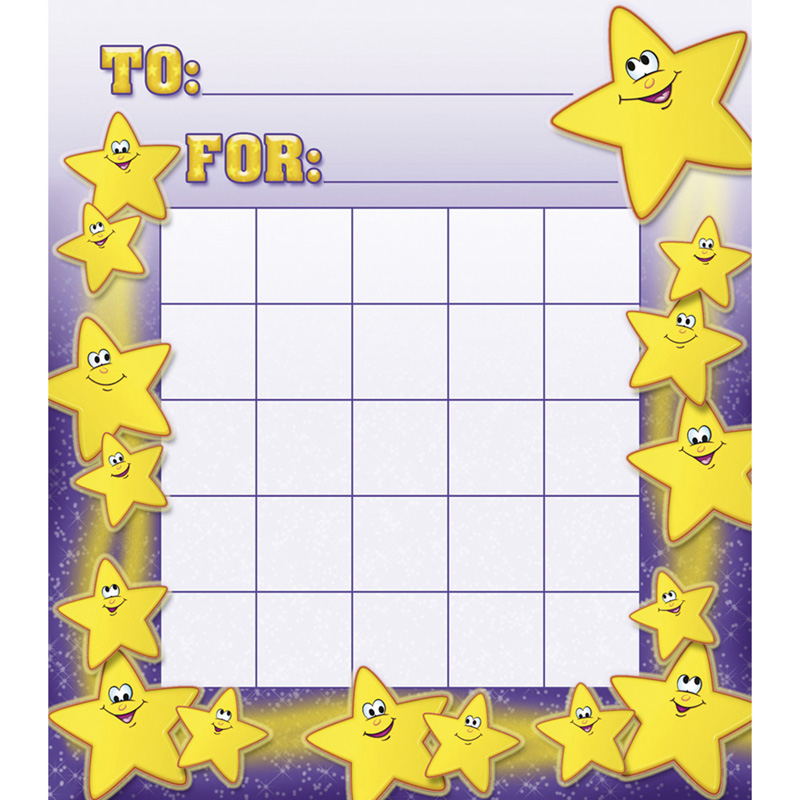 SMILEY STARS MOTIVATIONAL CHARTS – Progress Chart for Kids