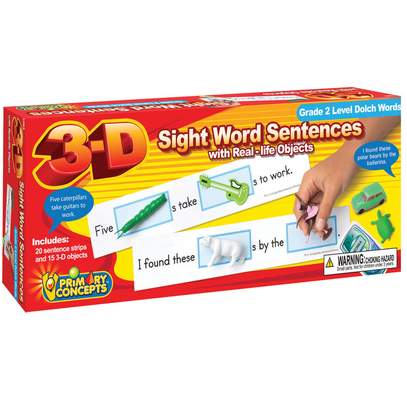 Primary Concepts, Inc 3-D Sight Word Sentences Grade 2