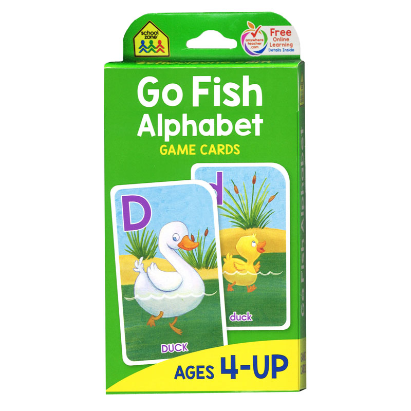 School zone publishing go fish game cards 887432719 ebay for Fish card game