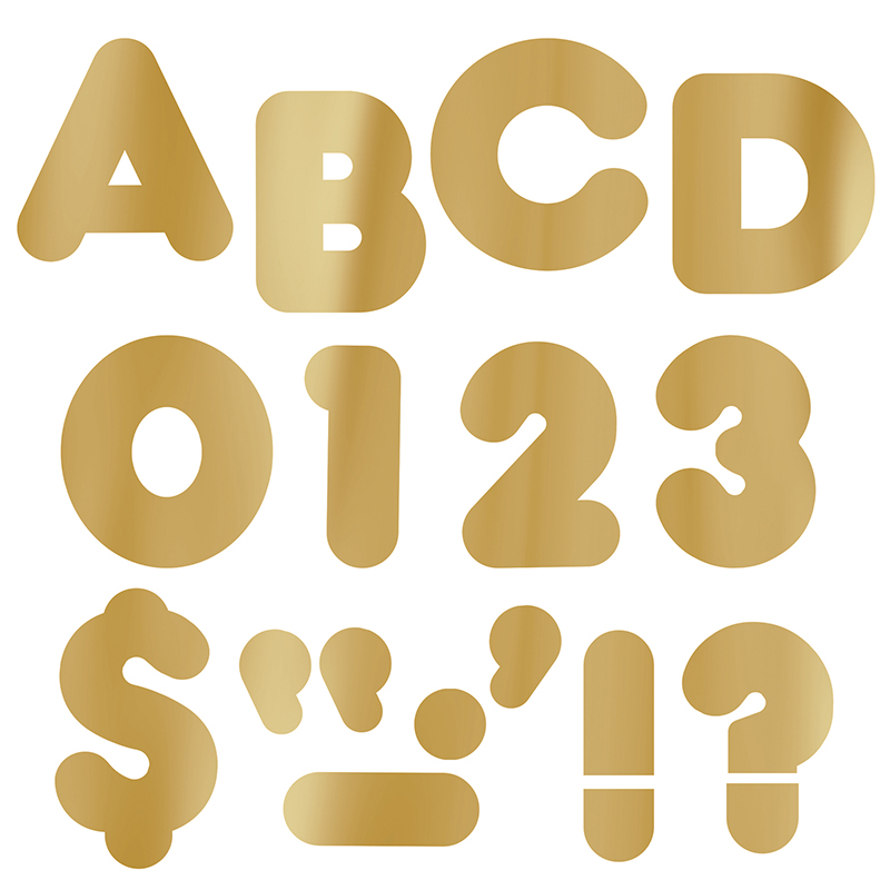 4quot gold bulletin board letters classroom decorations With gold bulletin board letters