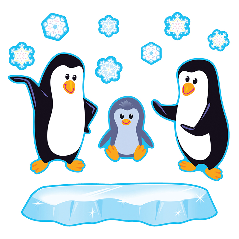charming Winter Bulletin Board Sets Part - 4: Classroom Decorations | Bulletin Board Sets | Winter Bulletin Board Sets |  Playful Penguins | Schoodoodle School Supplies - T-8202