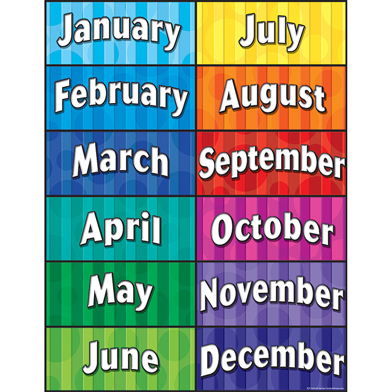 Year Calendar Jsf : Preschool classroom decorations months of the year chart